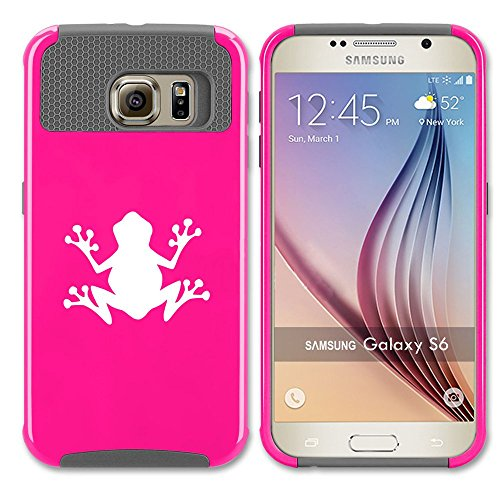 Samsung Galaxy S7 Shockproof Impact Hard Case Cover Frog (Hot Pink-Grey ),MIP