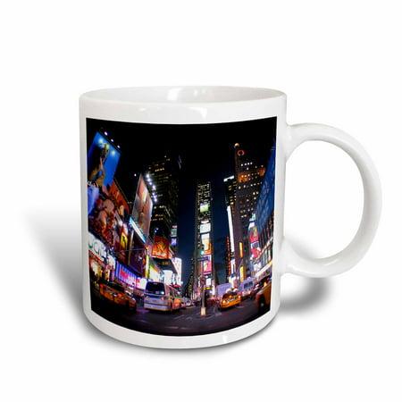 3dRose New York City Times Square, Ceramic Mug, 11-ounce (Halloween New York Times Square)
