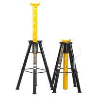 Omega 32107b black high lift jack stand, 10 ton capacity
