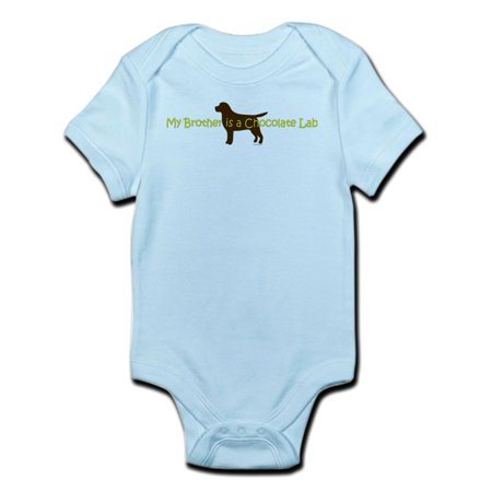 CafePress - My Brother Is A Chocolate Lab Infant Bodysuit - Baby Light (Brother Scrubs Lab Green)