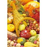 "Cornucopia Horn Of Plenty Thanksgiving Garden Flag by Briarwood Lane 12"" x 18"""