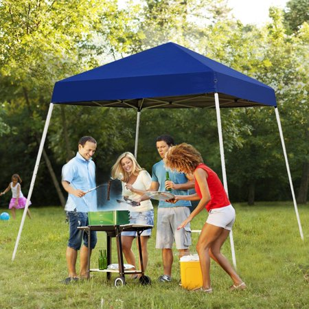 UBesGoo  10' x 10' Pop up Canopy Tent Portable UV Coated Outdoor Garden Instant Tent Carry Bag, Blue