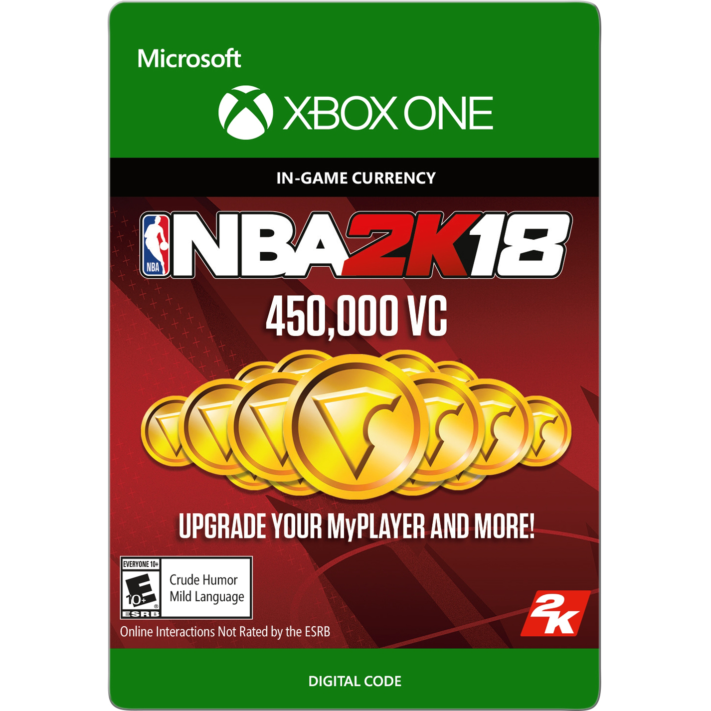 Xbox One NBA 2K18 450,000 VC (email delivery)