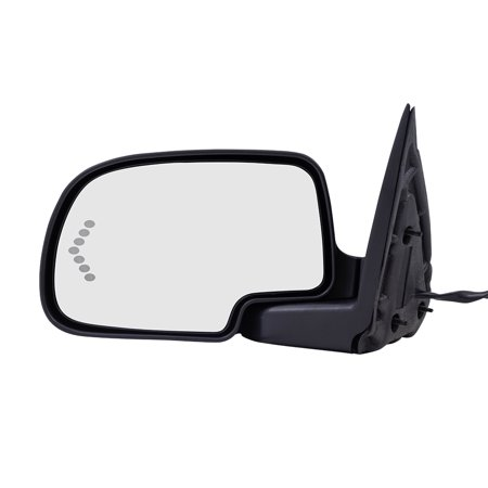 Oem Heated Glass (BROCK Side Power OEM Substitute Mirror Replacement for 2003-2006 Chevrolet Silverado Drivers Heated Signal on Glass)