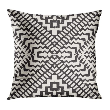 ECCOT Pattern Tribal Ethnic Geometric Stripe Lines for Aztec Black Brush Creative Pillow Case Pillow Cover 16x16 inch