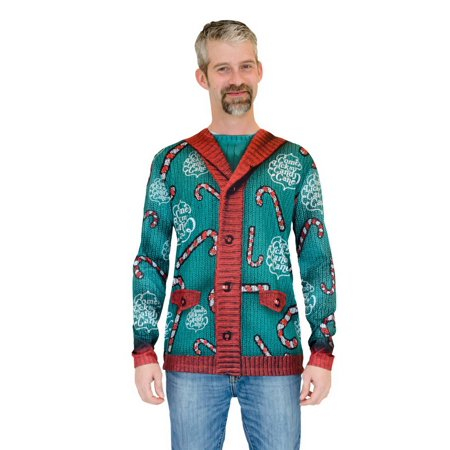 Everyday Is Halloween Sweater (Faux Real F130561 Lick My Candy Cane Xmas Sweater)