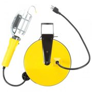 Bayco Products  BAY-SL-840 Incandescent Work Light With Metal Guard  40 ft. Metal Reel