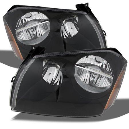 Fit 2005-2007 Dodge Magnum SE SRT SXT RT Black Bezel Replacement Headlights Pair (Dodge Magnum Headlight Replacement)
