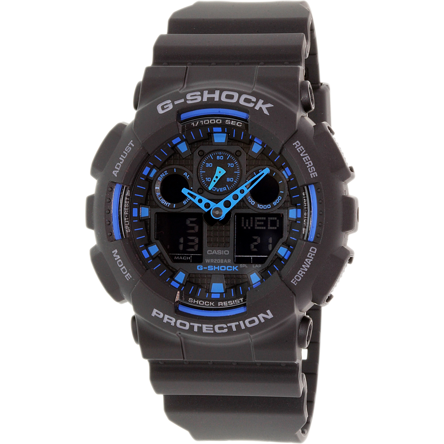 Casio Men's G-Shock GA100-1A2 Black Resin Quartz Fashion Watch
