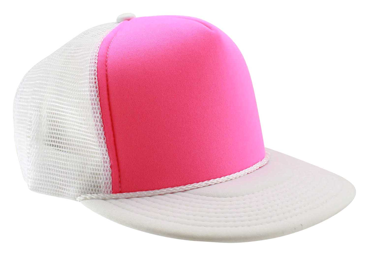6c10d125e9b Enimay Neon Colored Black Light Trucker Style Foam Hats Pool Party Rave  Summer Neon White Green One Size - Walmart.com