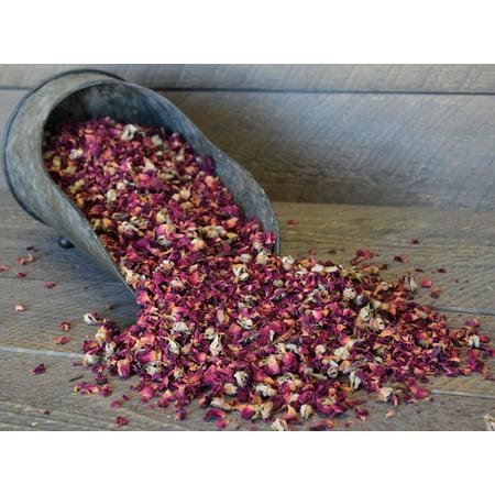 Dried Rose Petals - Rose Buds Grade A 1 lb bag -- Single Bag - Dried Rose