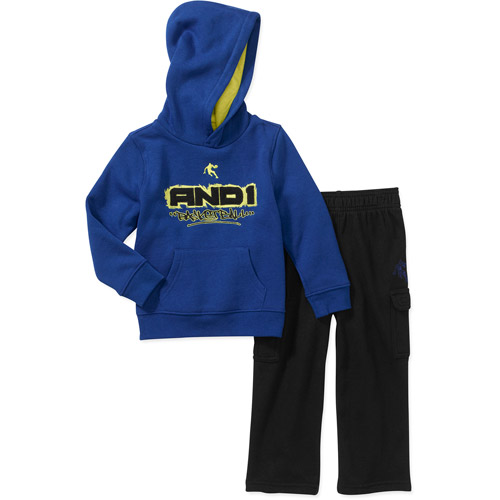 AND1 Baby Boys' 2 Piece Graphic Hoodie and Pant Set