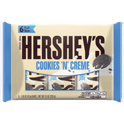 Hershey's Cookies 'N' Creme White Creme Candy Bar, 9.3 Oz., 6 Count