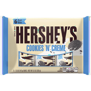 Hershey's Cookies 'n' Creme, White Creme Bars, 6 Count, 9.3 Oz