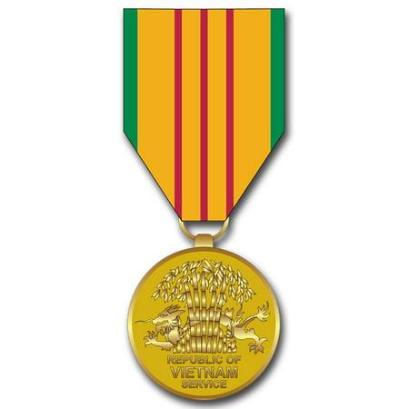 3.8 Inch Vietnam Service Medal Decal Sticker