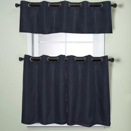 Sweet Home Collection Modern Subtle Texture Solid Navy