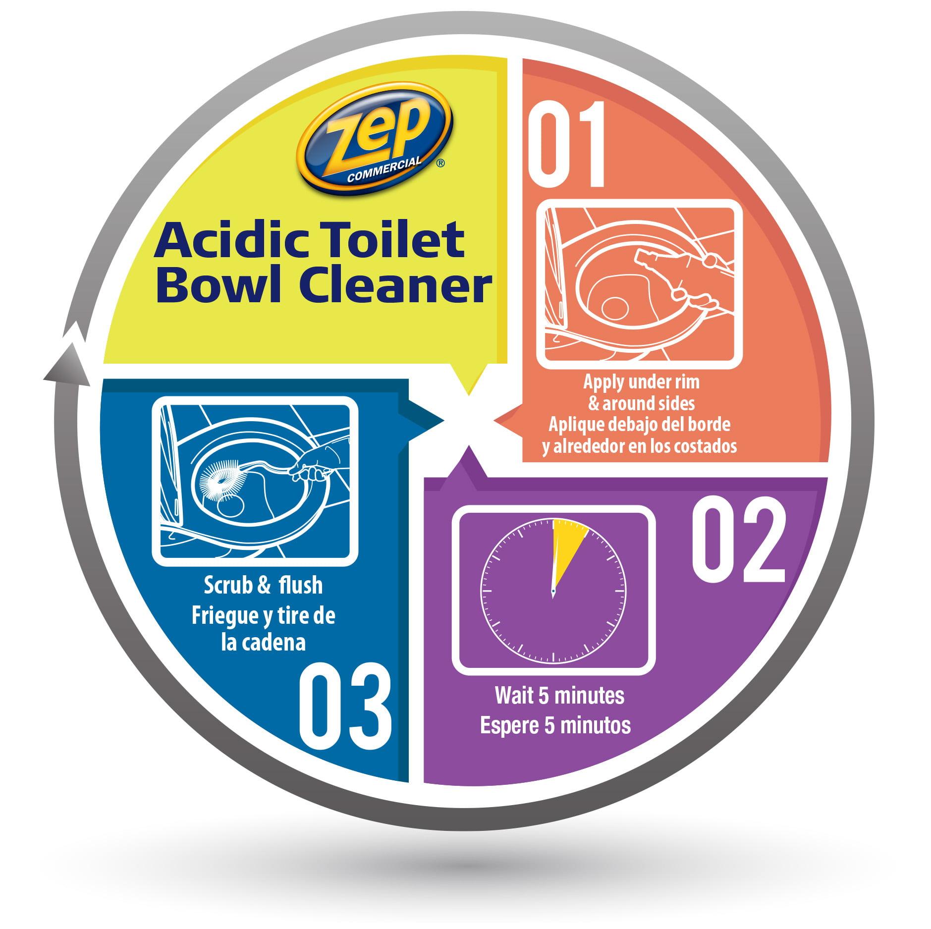 Zep Commercial Grade Toilet Bowl Cleaner, 32 Oz - Walmart.com