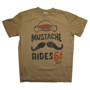 Mustache Rides Five Cents Funny Junk Food Vintage Style Adult T-Shirt Tee