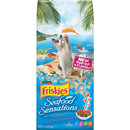Purina Friskies Seafood Sensations Cat Food 6.3 lb. Bag