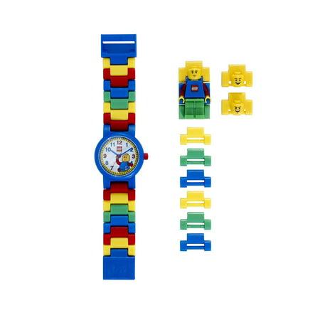 Logo Time Watch - LEGO Kids' 9005732 Classic Plastic Minifigure Link Watch