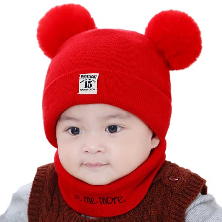 7ae127bf205 2018 New Autumn Winter Christmas Hat Baby Boys Girls Hat Warm Windproof  Wool Hat Toddler Kids