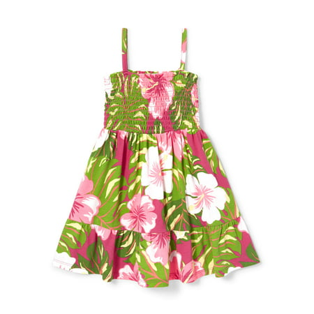 The Children's Place Tropical Floral Print Smock Dress (Baby Girls & Toddler - Halloween Smocked Dresses
