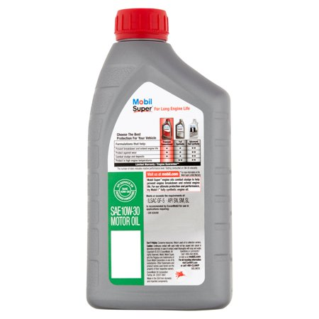 Mobil super 10w 30 conventional motor oil 1 qt best for Top 1 motor oil review