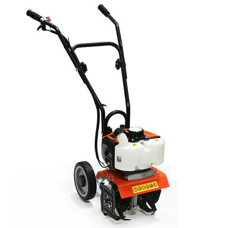 XtremepowerUS Commercial 2 Cycle Gas Powered Garden yard grass Tiller Cultivator (Power Cultivator)