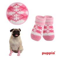 Argyle Dog Socks by Puppia - Pink - Large