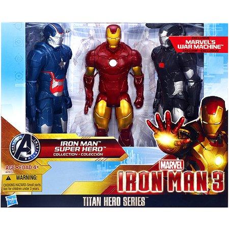 Titan Hero Series Iron Man Super Hero Collection Action Figure 3 Pack