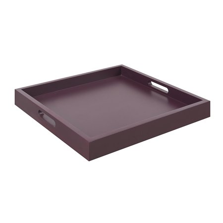 Palm Beach Serving Tray, Purple, Cut Out Handles By Convenience Concepts Ship from - Ship Cut Out