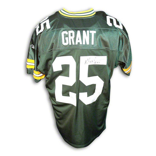 NFL - Ryan Grant Autographed Green Bay Packers Reebok Authentic Green Jersey