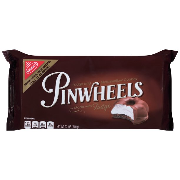 Nabisco Pinwheels Made with Fudge Cookies, 12 Oz ...