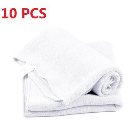 10Pcs Wash Towel Face Hair Clean Car Polishing Streak-Free Towel (Best Devacurl Hair Towels)