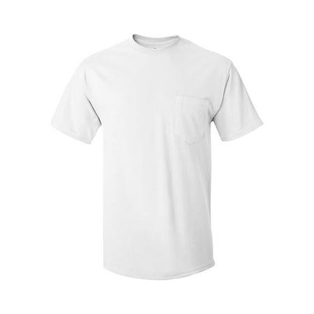 48e7580aab72d Hanes - 5590 Hanes T-Shirts Tagless T-Shirt with a Pocket - Walmart.com