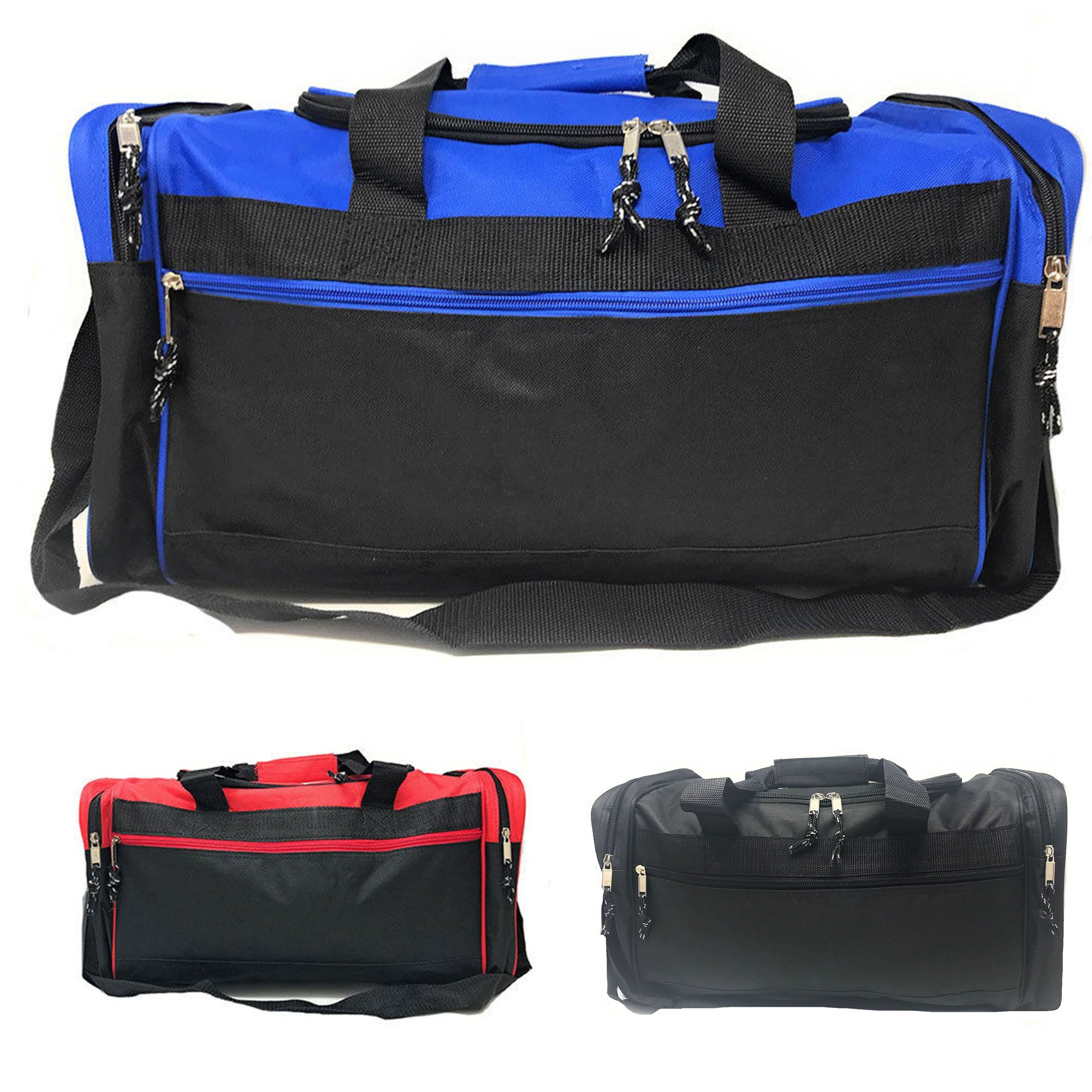 21 quot  Square Heavy Duty Duffle Bags Travel Sports School Gym Work  Luggage Carry-On - Walmart.com bafe5c88b98