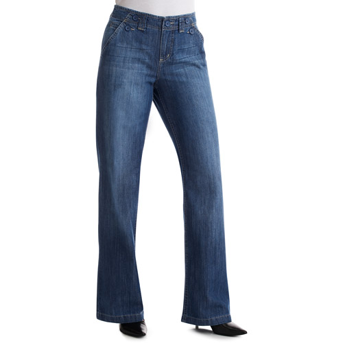 Faded Glory - Women's Organic Cotton Relaxed-Fit Flared Jeans, Size 4
