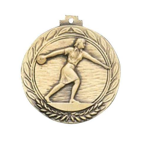 Awards Etc.  ABOWLF BOWLING FEMALE MEDALLION with RIBBON - Pack of 10