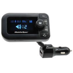 MobileSpec MBS13203 12V/DC FM Transmitter with USB and Large Display