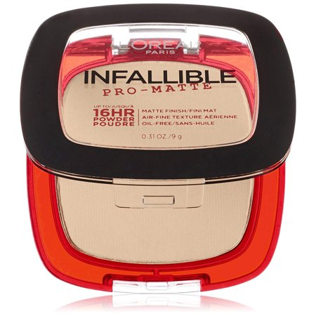 L'Oréal Paris Makeup Infallible Pro-Matte Powder, lightweight pressed face powder, 16hr shine-defying matte finish, absorbs excess oil and reduces.., By LOreal Paris