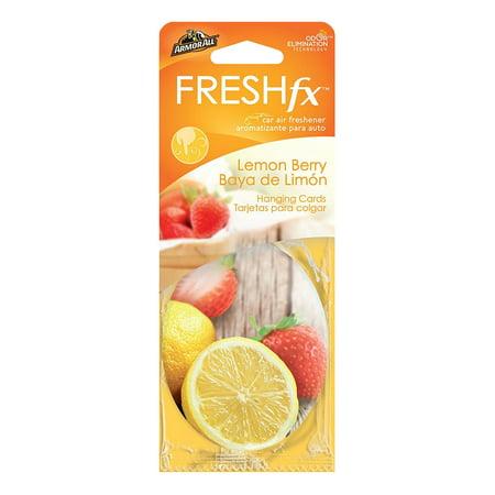 Lemon Berry - Armor All FRESHfx Car Air Freshener Hanging Card, 3-Count (Lemon Berry)