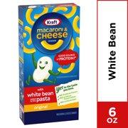 Kraft Original Cheddar Macaroni & Cheese Dinner with White Bean Protein, 6 oz Box