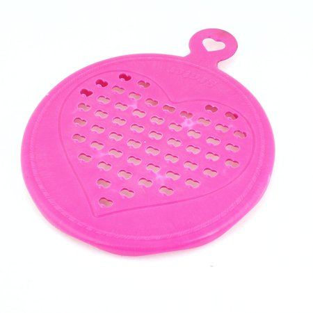 - Unique Bargains Fuchsia Heart Shape Hole Plastic Chocolate Slicer Grater Grinder