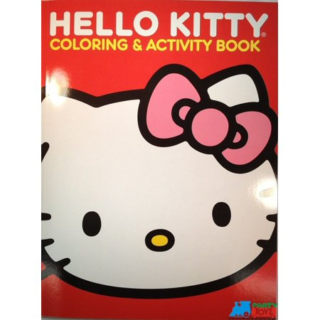 Hello Kitty Jumbo 64 pg. Coloring and Activity Book - Red (Hello Kitty Halloween Coloring Sheets)