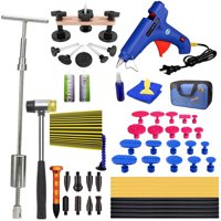 Auto Body Paintless Dent Removal Tools Pops a 2-in-1 Slide Hammer Glue Gun Dent Puller Kits For Car Hail Damage Car Door Dings Repair