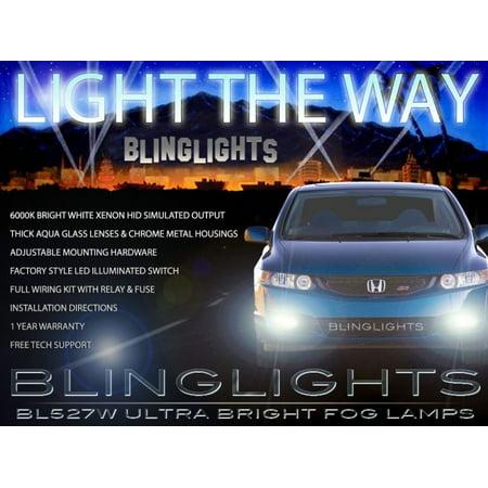 2006 2007 2008 Honda Civic Coupe Fog Lamps Lights Kit Dx Lx Ex Ex L Si Xenon Foglamp Foglight