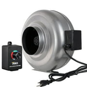 iPower 4 Inch 190 CFM Duct Inline Fan HVAC Exhaust Blower with Variable Speed Controller