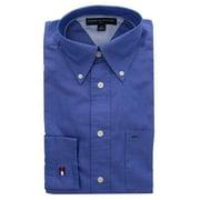 Tommy Hilfiger Men?s Long Sleeve Blue Golf Dress Shirt Casual Classic Button-Up