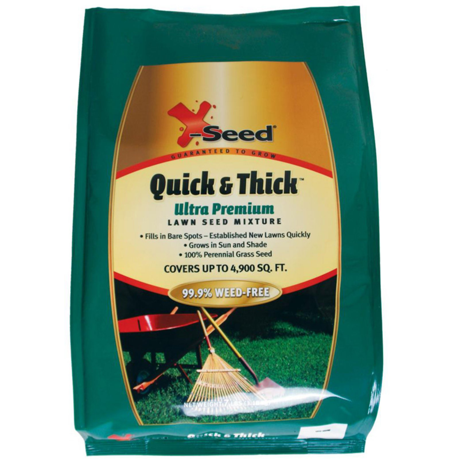 X-Seed 7 lbs. Quick and Thick Lawn Seed Mixture