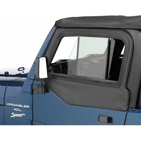 Bestop Door Sill - Bestop Inc. 51787-15 Bes51787-15 97-06 Jeep Wrangler Upper Door Sliders For Factory & All Bestop Soft Tops - Black Denim